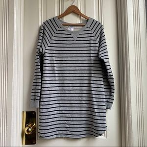 Divided by H&M Black & Grey Striped Sweater Dress